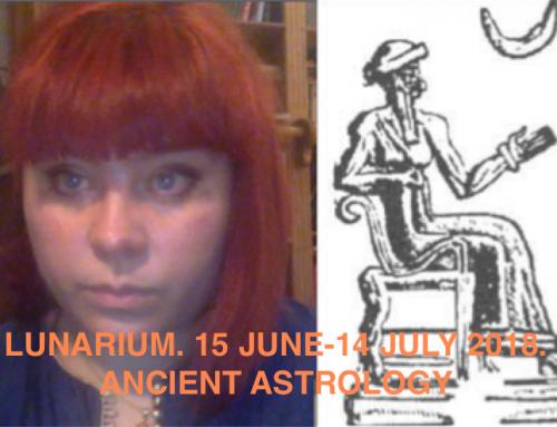 Lunarium. Lunar month 15 june-14 july 2018. Ancient astrology