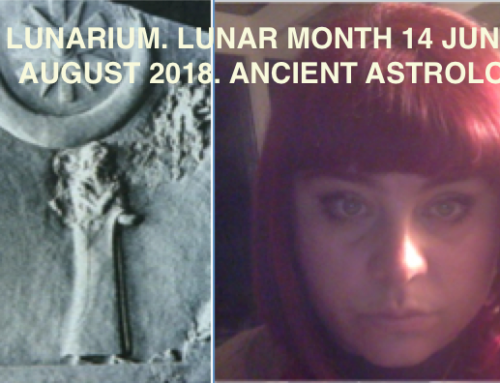 LUNARIUM. LUNAR MONTH 14 JULY- 14 AUGUST. ANCIENT BABYLONIAN ASTROLOGY